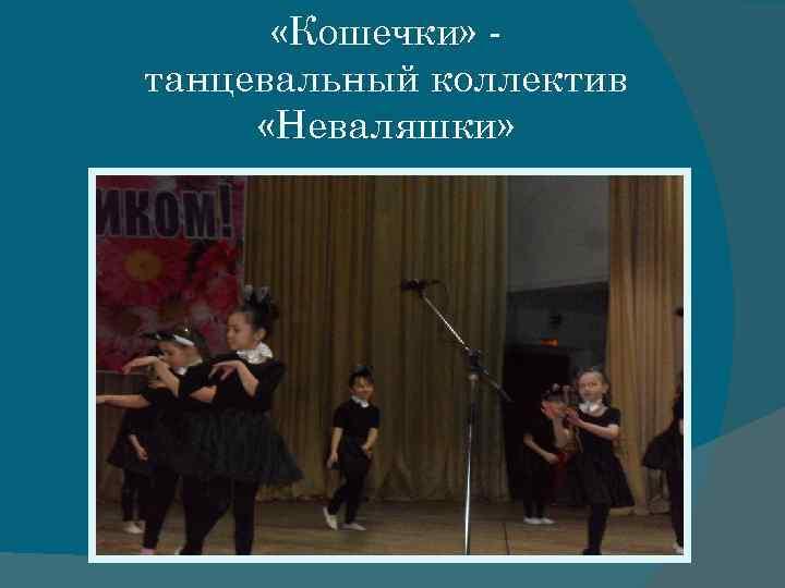 «Кошечки» танцевальный коллектив «Неваляшки»