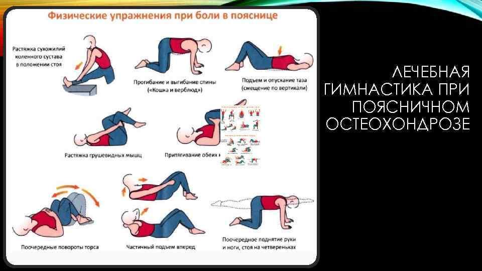 Остеохондроз поясничного отдела упражнения в офисе