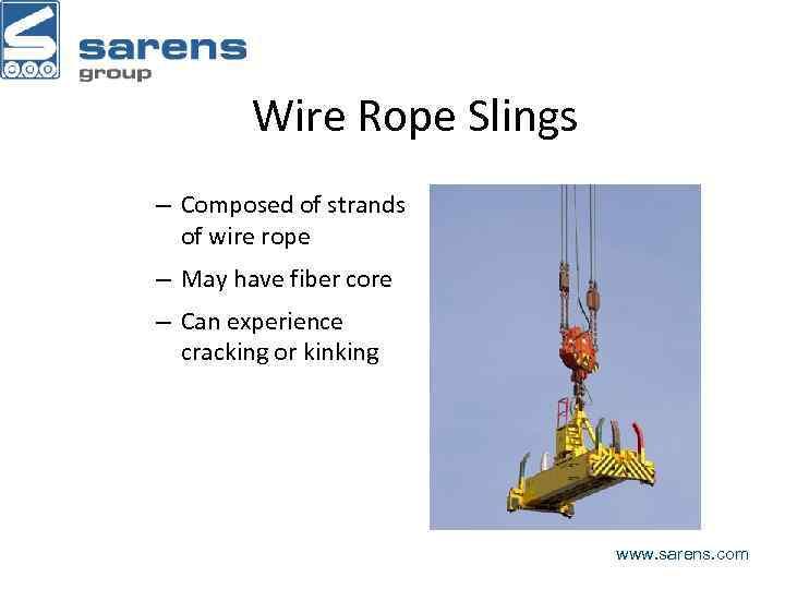 Cranes and Rigging www sarens com Session