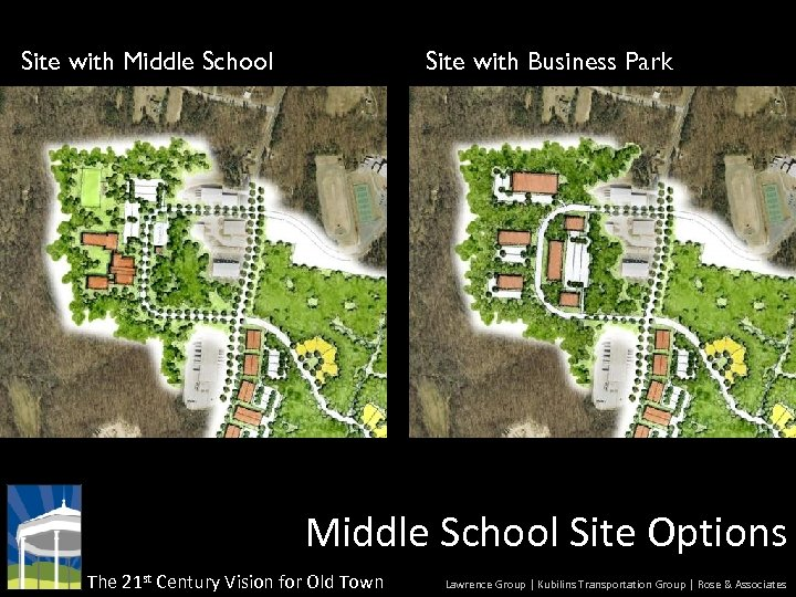 Site with Middle School Site with Business Park Middle School Site Options The 21