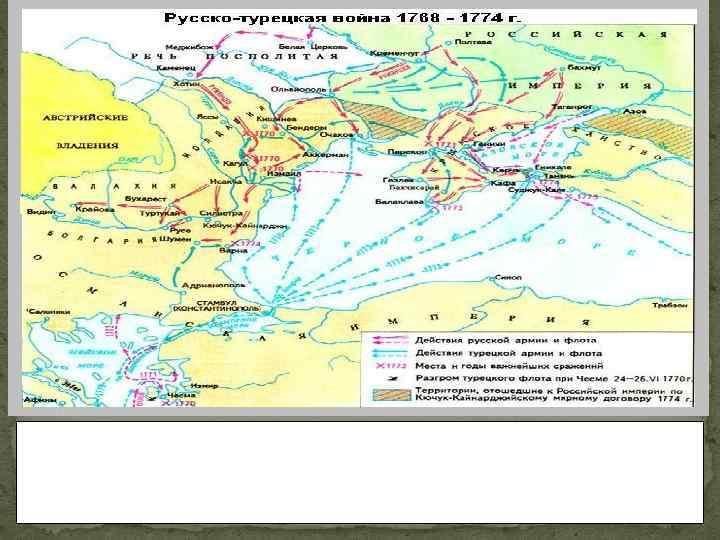 В июле 1770 года турецкая армия была разгромлена войсками Румянцева у реки Ларги. Через