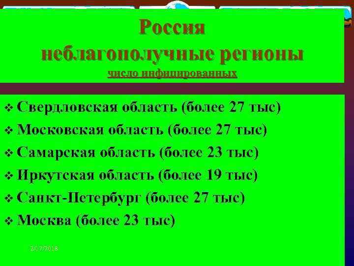 Россия неблагополучные регионы число инфицированных v Свердловская область (более 27 тыс) v Московская область