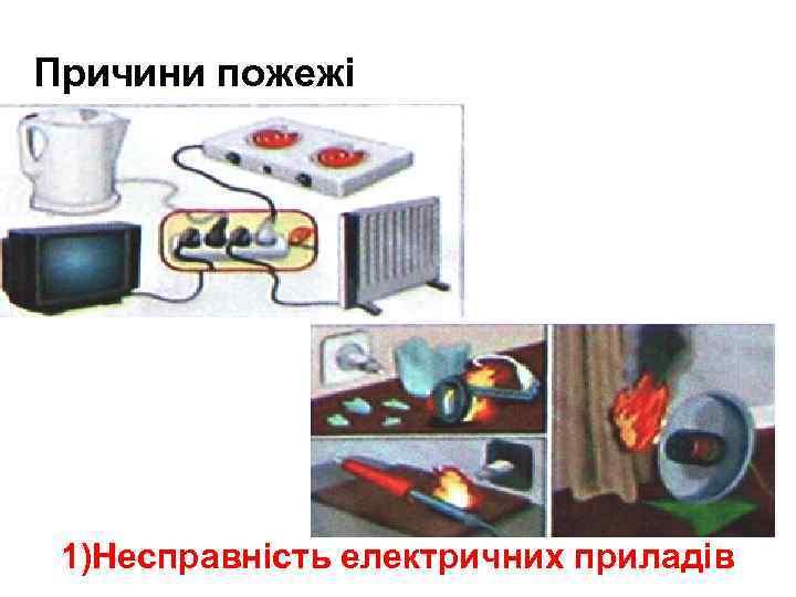 Причини пожежі ра 1)Несправність електричних приладів
