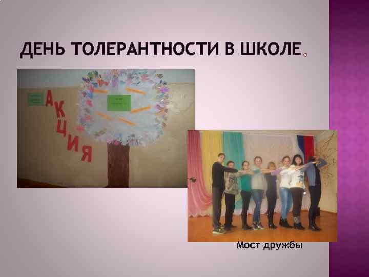 ДЕНЬ ТОЛЕРАНТНОСТИ В ШКОЛЕ Мост дружбы