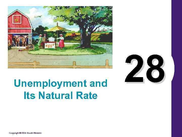 Unemployment and Its Natural Rate Copyright © 2004 South-Western 28