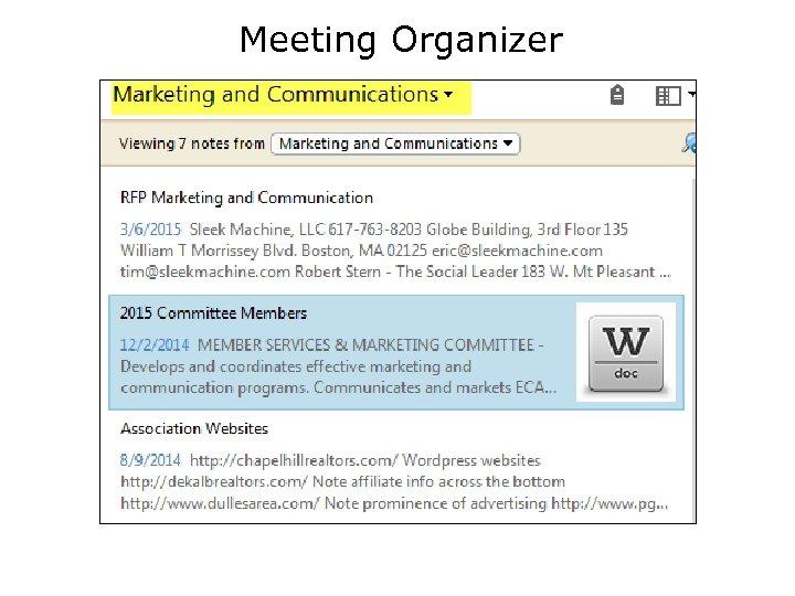 Meeting Organizer