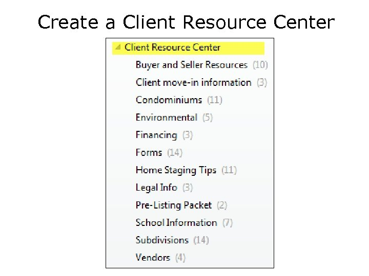 Create a Client Resource Center