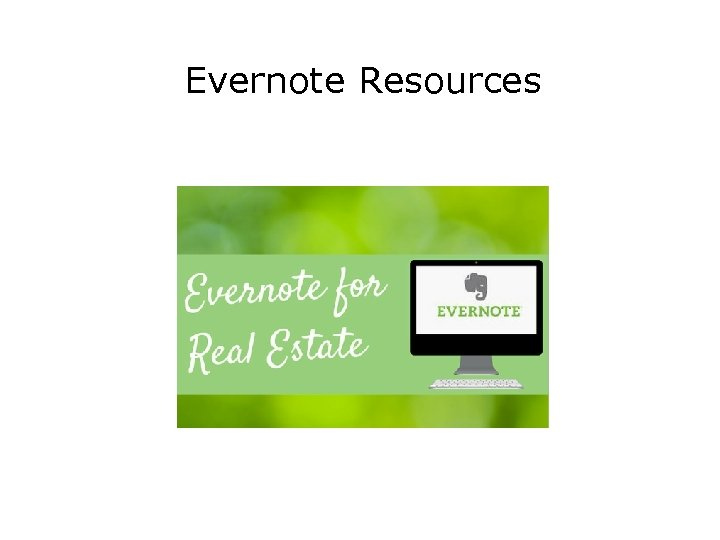 Evernote Resources