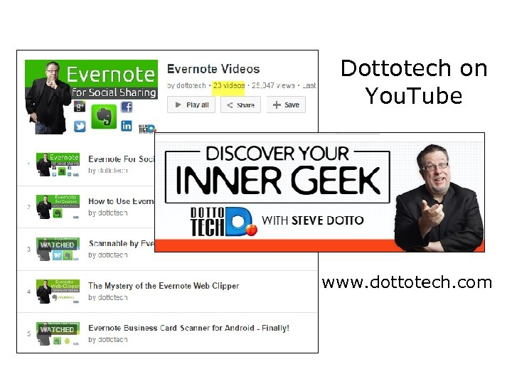 Dottotech on You. Tube www. dottotech. com