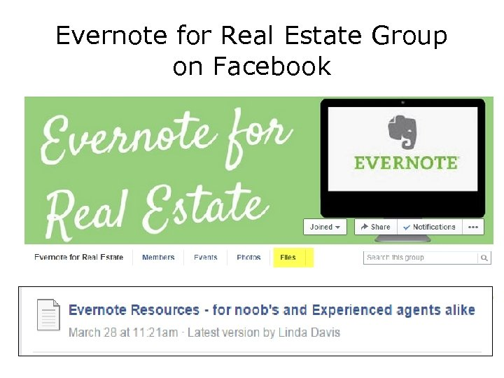 Evernote for Real Estate Group on Facebook