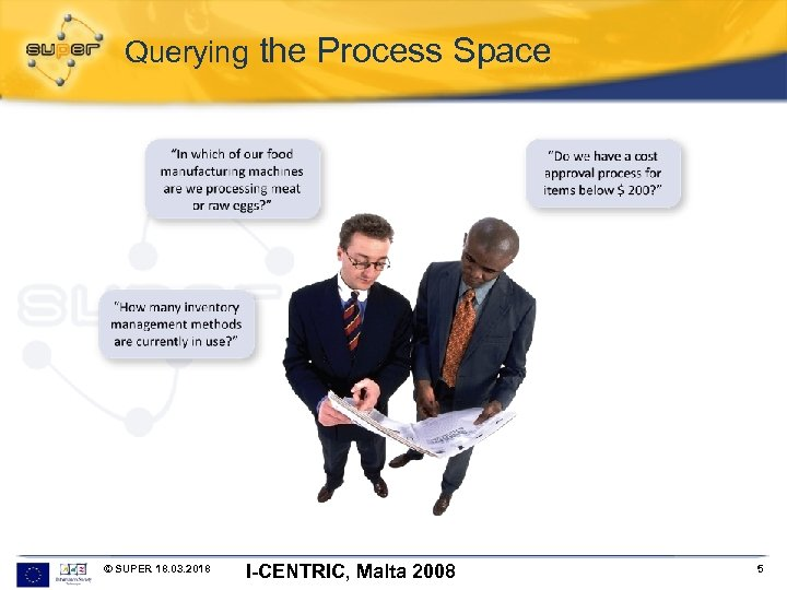 Querying the Process Space © SUPER 18. 03. 2018 I-CENTRIC, Malta 2008 5