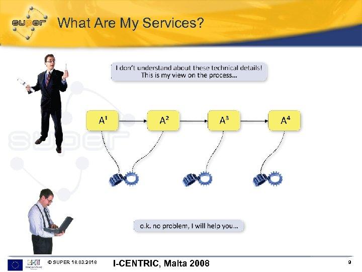What Are My Services? © SUPER 18. 03. 2018 I-CENTRIC, Malta 2008 9