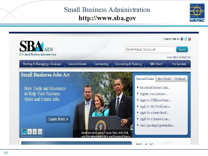 Small Business Administration http: //www. sba. gov 10