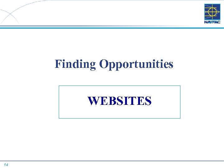 Finding Opportunities WEBSITES 14