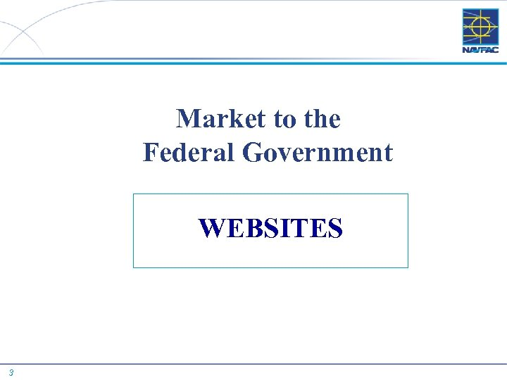 Market to the Federal Government WEBSITES 3