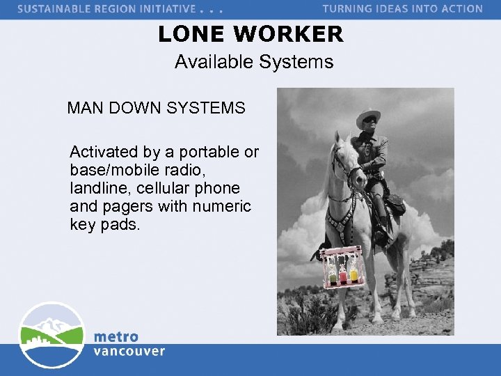 LONE WORKER Available Systems MAN DOWN SYSTEMS Activated by a portable or base/mobile radio,