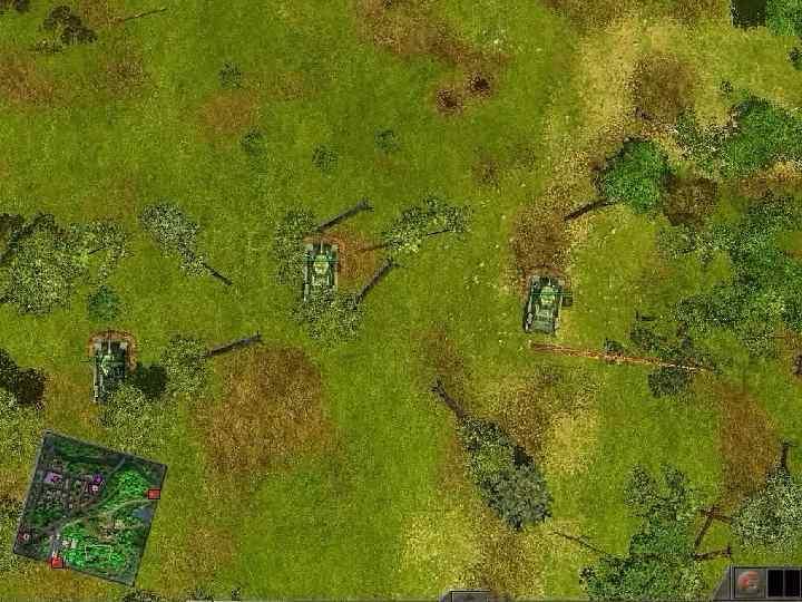 Взвод обороняется в составе роты. Вариант расположения танковой роты в два эшелона.