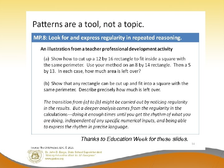 Thanks to Education Week for these slides.