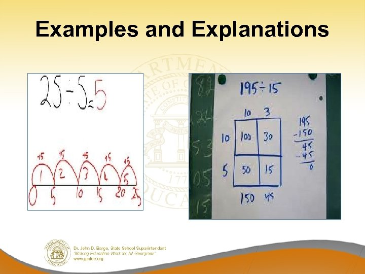 Examples and Explanations