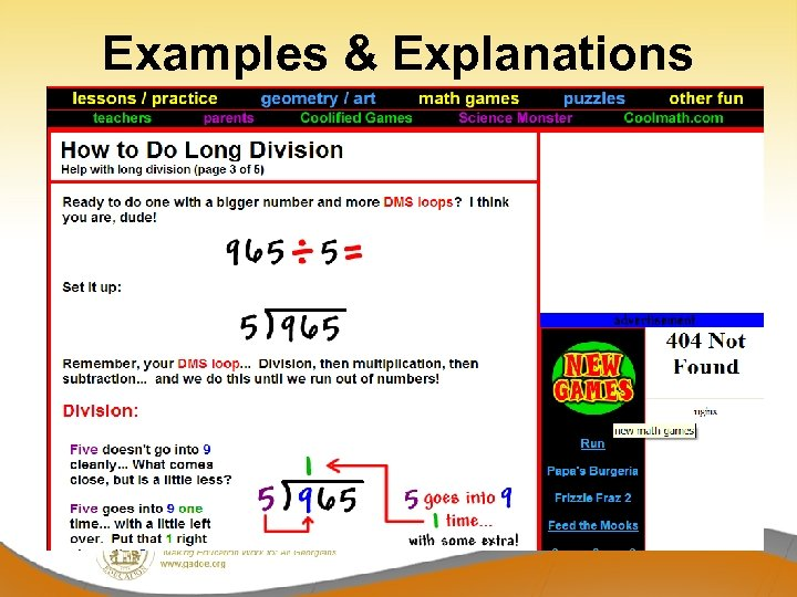 Examples & Explanations