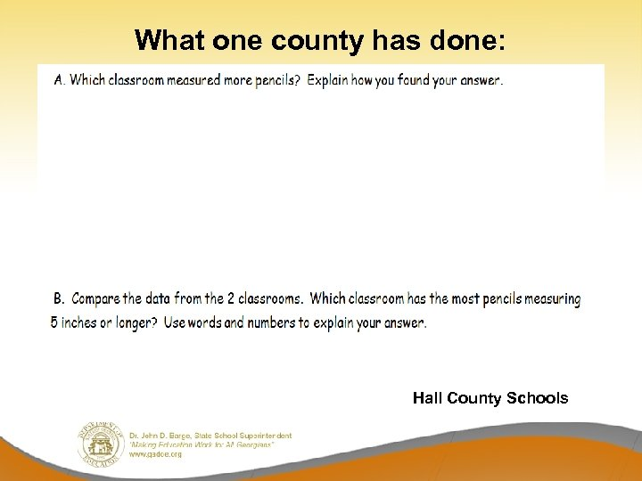 What one county has done: Hall County Schools