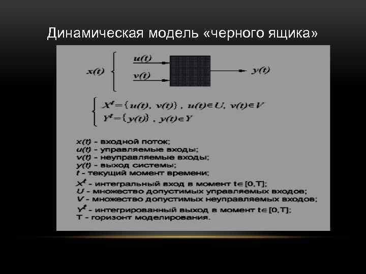 Динамическая модель «черного ящика»