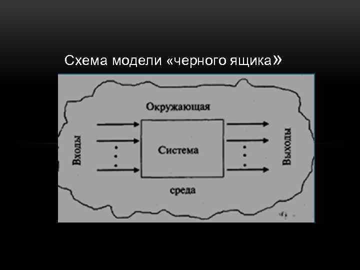 Схема модели «черного ящика»