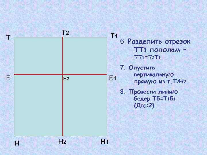 Т 2 Т Т 1 6. Разделить отрезок ТТ 1 пополам – ТТ 1=Т
