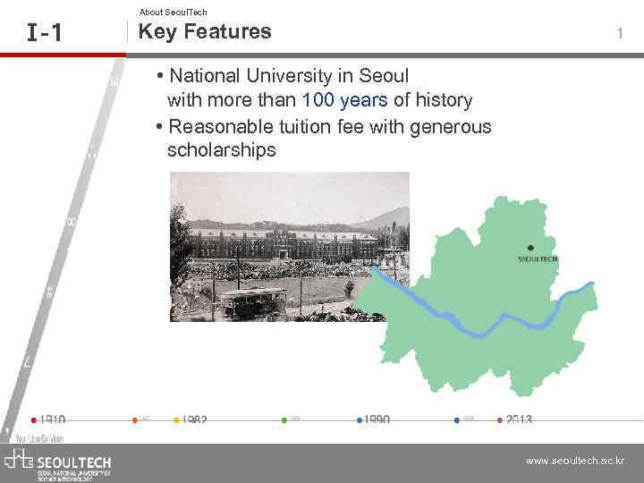 Ⅰ -1 About Seoul. Tech Key Features 1 • National University in Seoul with