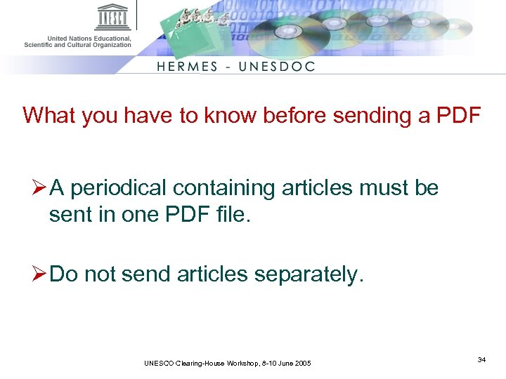 What you have to know before sending a PDF Ø A periodical containing articles