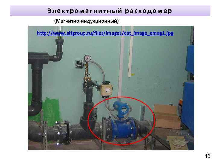 Электромагнитный расходомер (Магнитно-индукционный) http: //www. altgroup. ru/files/images/cat_image_emag 1. jpg 13