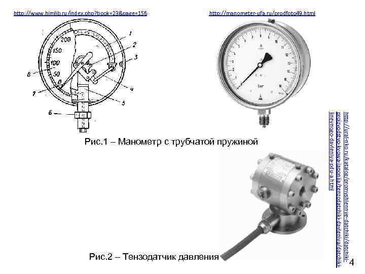http: //www. himlib. ru/index. php? book=23&page=156 http: //manometer-ufa. ru/prodfoto 49. html Рис. 2 –