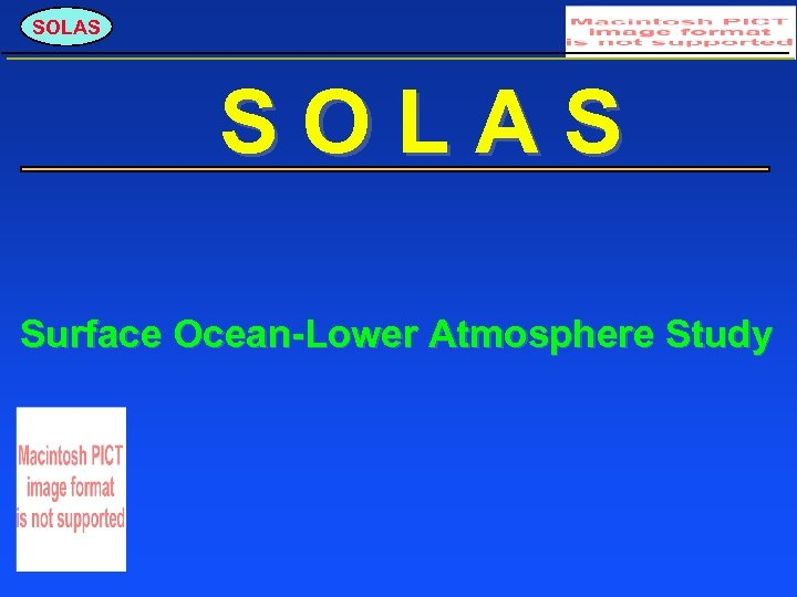 SOLAS Surface Ocean-Lower Atmosphere Study