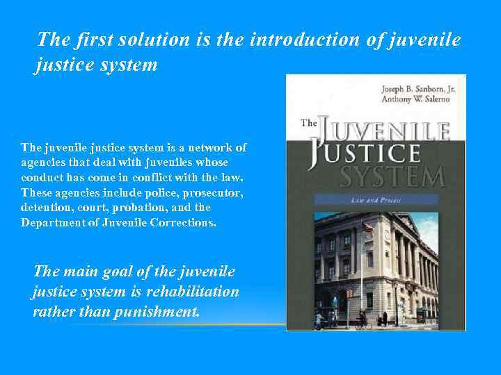 the flaws in the juvenile justice system in the state of massachusetts After a sexual abuse scandal hit texas' juvenile justice system in 2007, lawmakers started sending more juveniles to community-based programs, and by 2012, the number of youth incarcerated in the state's juvenile facilities had dropped by more than two thirds, from 4,700 to less than 1,500.