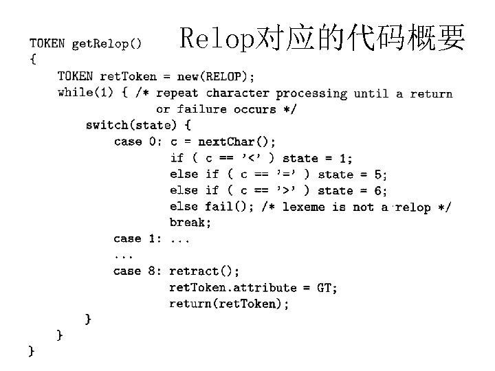 Relop对应的代码概要