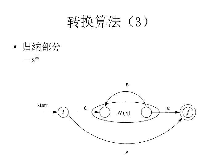 转换算法(3) • 归纳部分 – s*