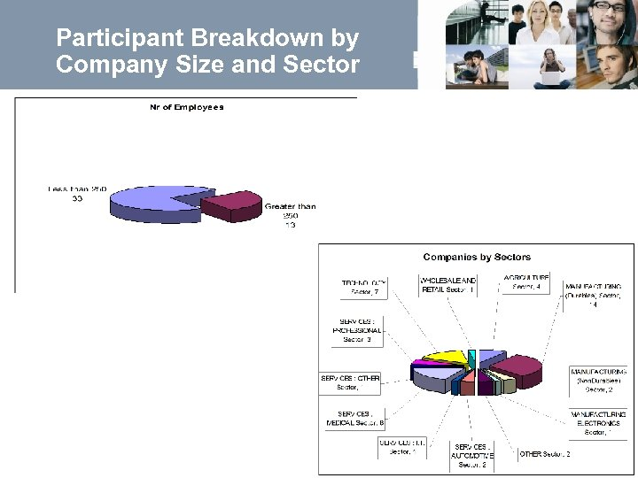 Participant Breakdown by Company Size and Sector