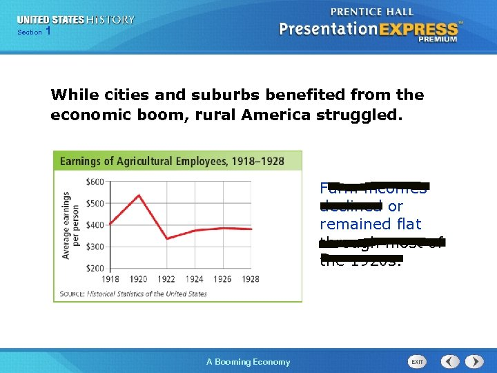 125 Section Chapter Section 1 While cities and suburbs benefited from the economic boom,
