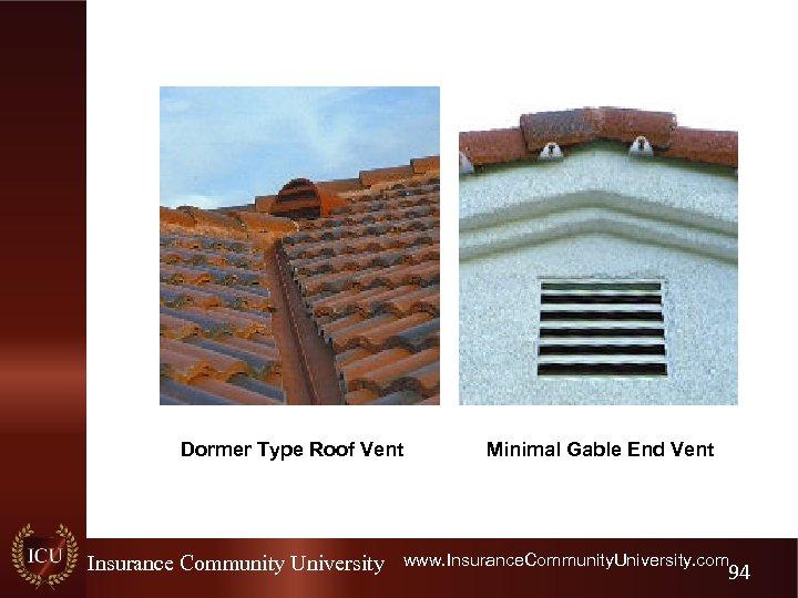 Dormer Type Roof Vent Insurance Community University Minimal Gable End Vent www. Insurance. Community.