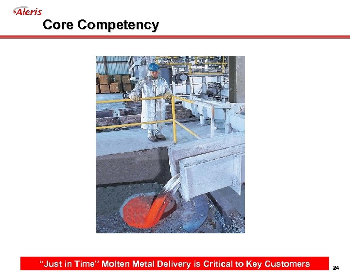 "Aleris Core Competency ""Just in Time"" Molten Metal Delivery is Critical to Key Customers"