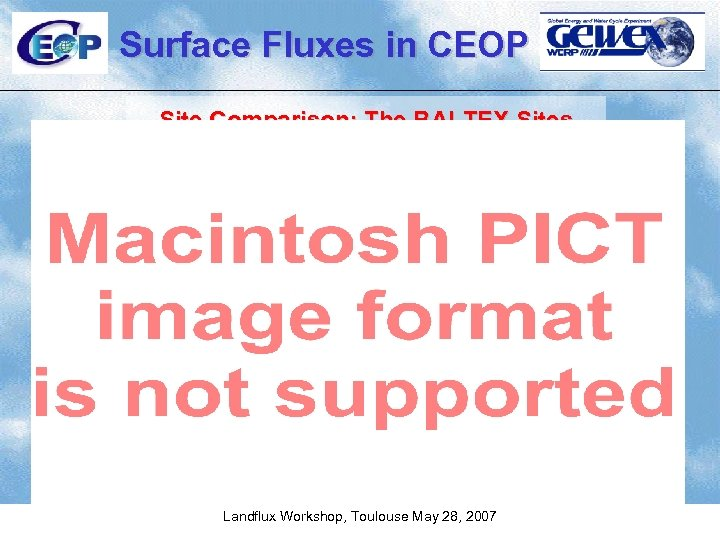 Surface Fluxes in CEOP Site Comparison: The BALTEX Sites Landflux Workshop, Toulouse May 28,