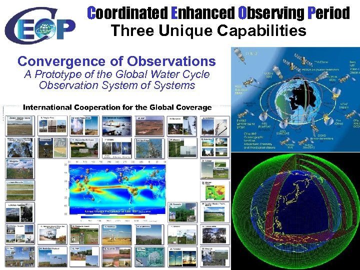 Coordinated Enhanced Observing Period Three Unique Capabilities Convergence of Observations A Prototype of the