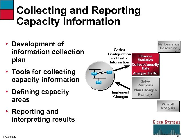 Collecting and Reporting Capacity Information • Development of information collection plan Gather Configuration and