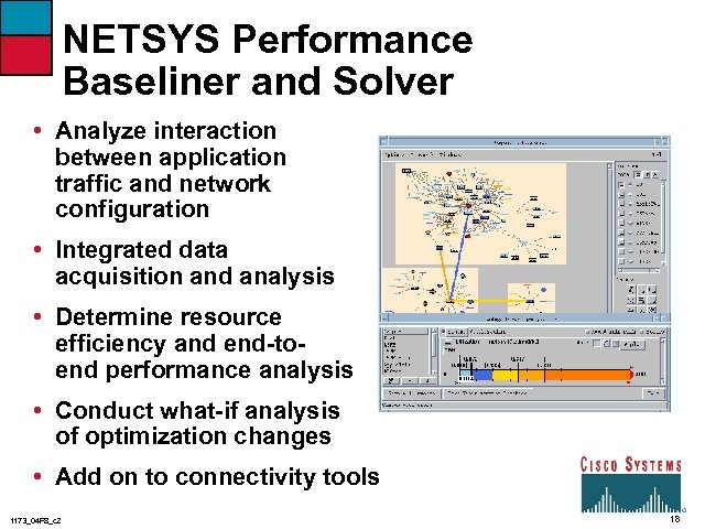 NETSYS Performance Baseliner and Solver • Analyze interaction between application traffic and network configuration