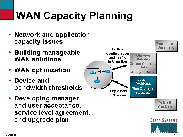 WAN Capacity Planning • Network and application capacity issues • Building manageable WAN solutions
