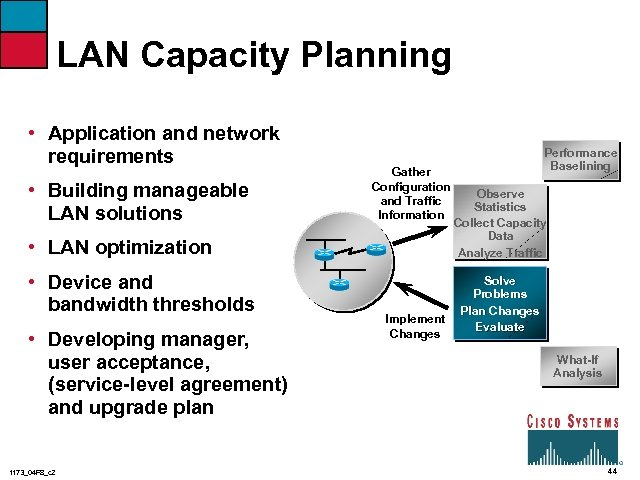 LAN Capacity Planning • Application and network requirements • Building manageable LAN solutions Gather