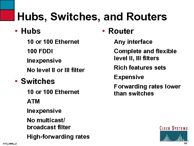 Hubs, Switches, and Routers • Hubs • Router 10 or 100 Ethernet Any interface