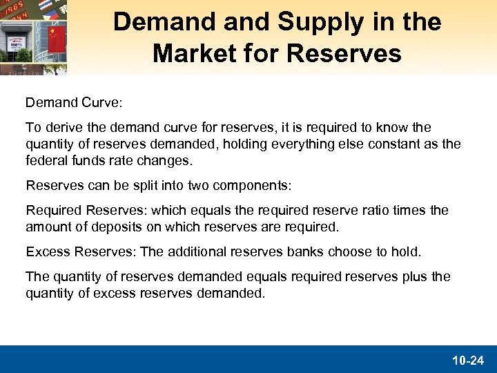 Demand Supply in the Market for Reserves Demand Curve: To derive the demand curve