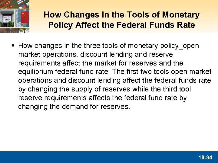 How Changes in the Tools of Monetary Policy Affect the Federal Funds Rate §