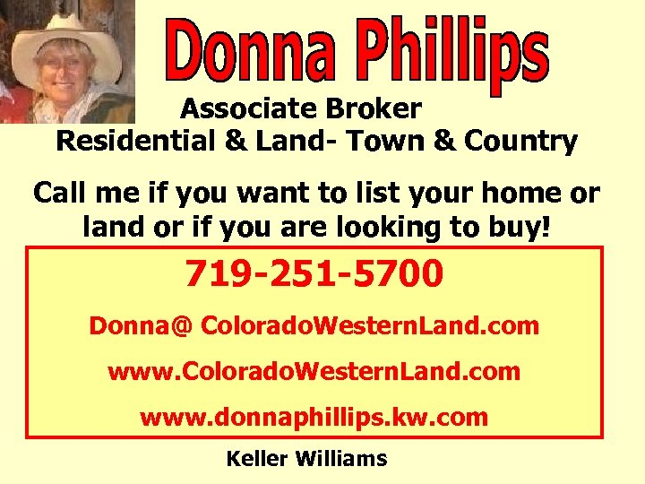 Associate Broker Residential & Land- Town & Country Call me if you want to